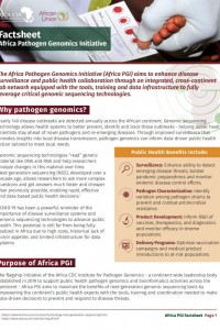 Africa Pathogen Genomics Initiative Factsheet